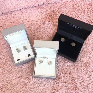 MACY'S Earrings: Set of (3) Pairs in Boxes